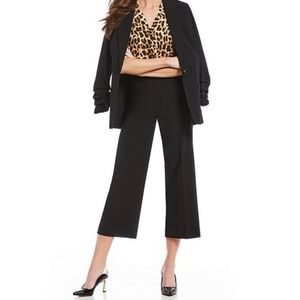 NWT INC Black Regular Fit Cropped Pants Trousers